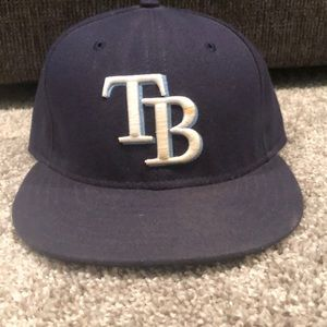 Tampa Bay Rays New Era 5950 on field fitted hat